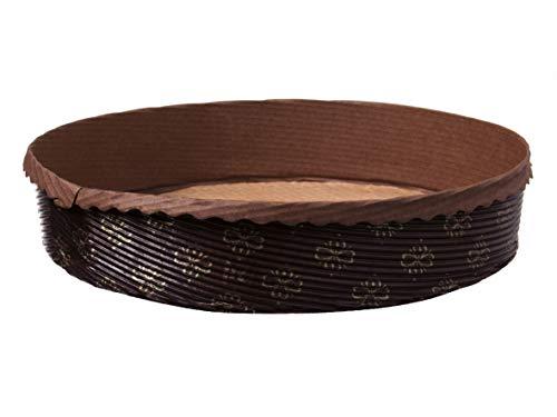 600 Einwegbackformen Einmal Papierbackformen Apfelkuchen Pie Backformen rund Ø170mm 35mm hoch Papier silikonisiert - Inkl. Verpackungslizenz in D