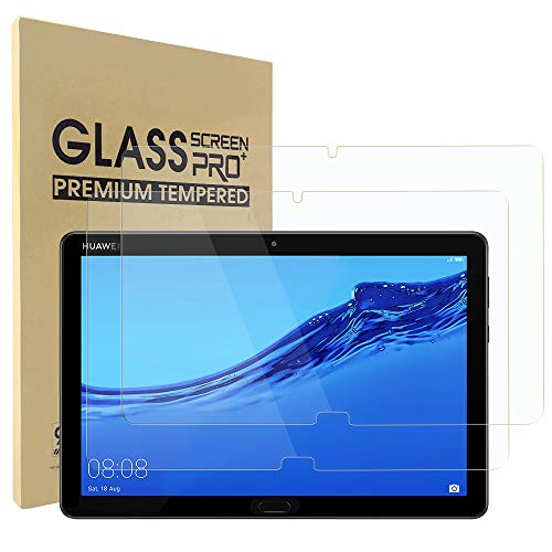Simpeak 2-Stück Panzerglas Schutzfolie Kompatibel für Huawei MediaPad M5 Lite [2 Pcs], Hartglas Tempered Glass Screen Protector Kompatibel mit MediaPad M5 Lite - Transparent