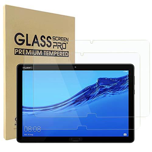 Simpeak 2-Stück Panzerglas Schutzfolie Kompatibel für Huawei MediaPad M5 Lite [2 Pcs], Hartglas Tempered Glass Screen Protector Kompatibel mit MediaPad M5 Lite - Transparent