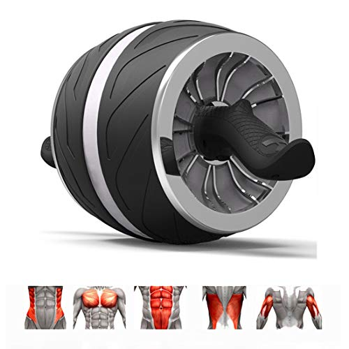 GIYL Ab Wheel Roller Roller Workout-Maschine Ab Big Wheel Roller Bauch-Übung perfekte Fitness für Core-Workouts,Grau