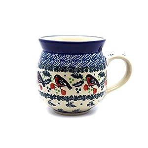 Polish Pottery Mug – 11 Oz. Bubble – Red Robin