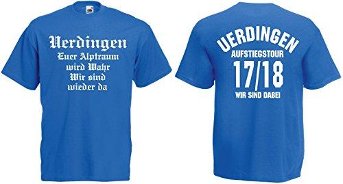 Uerdingen Aufstiegstour Fan T-Shirt Aufsteiger 2018 von S-XXXLblau-L