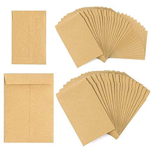 Opamoo bolsas de papel kraft, 200 Piezas bolsas de regalo(6x10cm, 8x12cm) Bolsa...