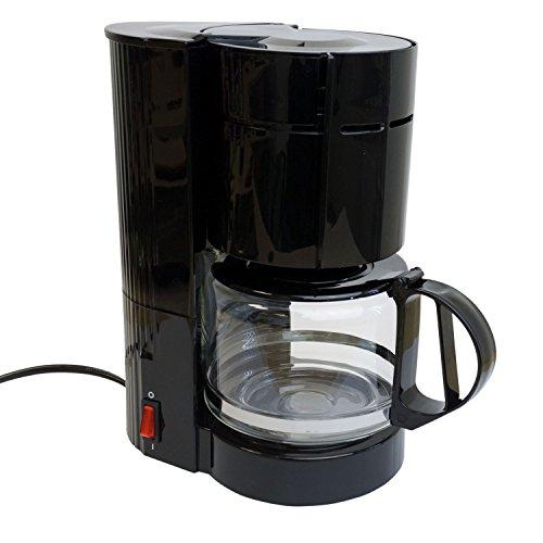 Multistore 2002 Kaffeemaschine mit Glaskanne 12 Tassen / 24V / 300W Reisekaffeemaschine LKW Boot oder Camper Zigarettenanzünder Filterkaffeemaschine