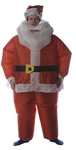 Disfraz de Papá Noel Hinchable a Pilas de Brite Ideas 180cm (Incluye transformador o enchufe británico de 3 clavijas.