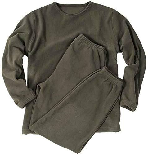 Mil-Tec BW Lange Thermo Unterwäsche Thermofleece Unterhemd und Unterhose Winter Thermounterwäsche Oliv XS-3XL (3XL)