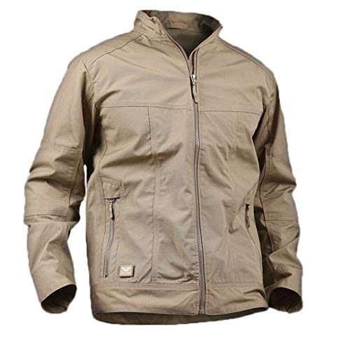Spring Men's Tactical Field Bomber Jacket Light Military Special Force Jackets Fall Casual Slim Pilot Coat Khaki S