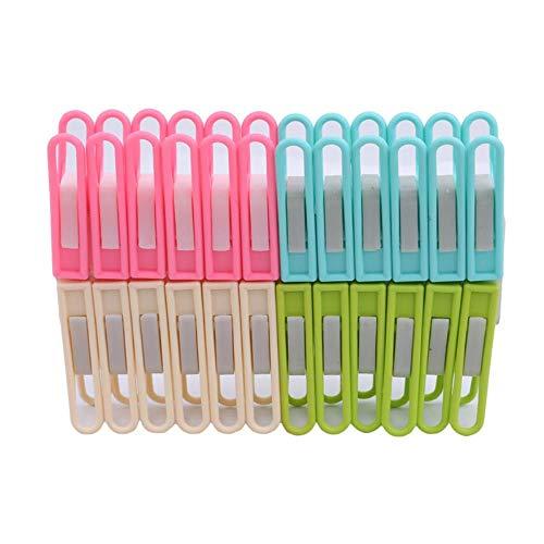 LLAAIT 24 Stks/Pack Plastic Kleding Pegs Wasserij Hangende Pins s Huishoudelijke Wasknijpers Sokken Ondergoed Drogen Rekhouder
