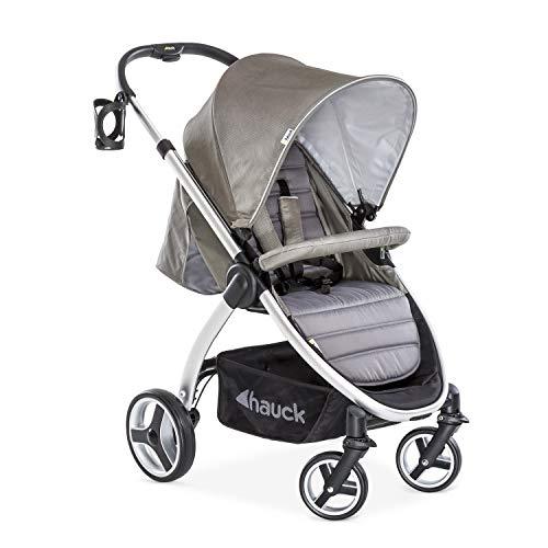 Hauck Buggy Lift Up 4 / für Babys und Kinder ab Geburt / Belastbar bis 25 kg / Einhändig Faltbar / Inklusive Getränke Halter / Höhenverstellbar / Liegeposition / Großer Korb / Charcoal Grau