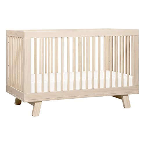 Babyletto Hudson 3-in-1 Convertible Crib with Toddler Bed Conversion Kit in Washed Natural, Greenguard Gold Certified