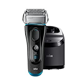 - 41Ly7BeTpvL - Braun Electric Razor for Men, Series 5 5190cc Electric Shaver with Precision Trimmer, Rechargeable, Wet & Dry, Clean & Charge Station and Travel Case