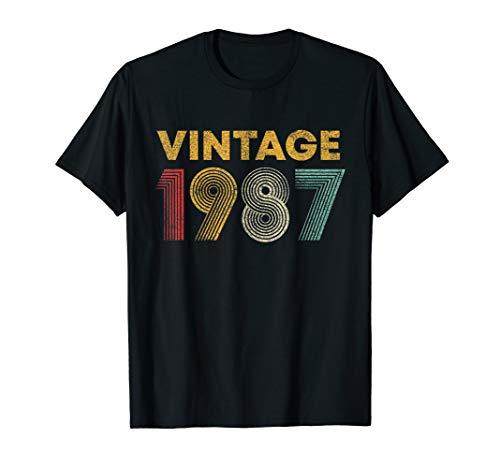 33rd Birthday Gift Idea Vintage 1987 Men Women T-Shirt