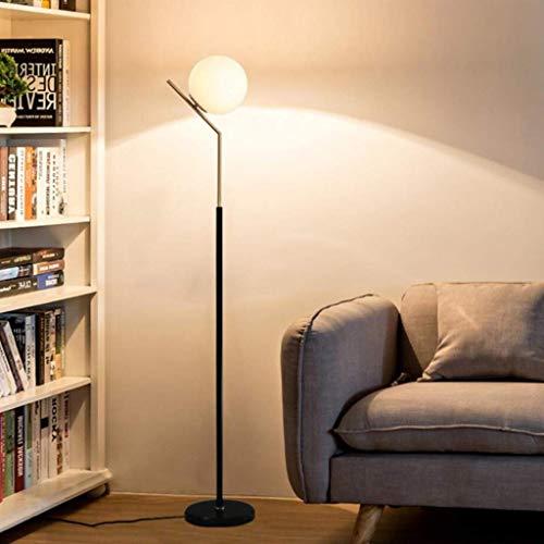 YXYOL Moderne Stehlampe mit Marmorsockel Stehleuchte, Modern Minimalist Glaskugel-Stehlampe für Wohnzimmer Büro Lampe Leselampe Nachttischlampe