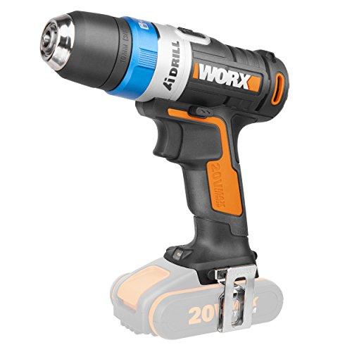 WORX WX178.9 Handbohrer , Schwarz/ Orange, ohne Akku