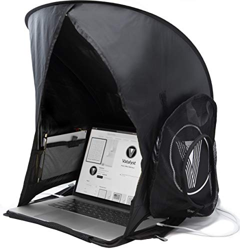 Vatalyst Laptop Sun Shade | Outdoor Foldable and Portable Glare Screen Protector Shield for Laptop Computers, Tablets and Smartphones