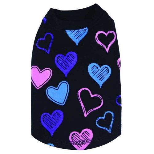 Doggydolly T-Shirt pour Chien Hearts Noir de