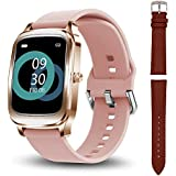 Smart Watch for Sports, Hongmed Fitness Tracker for Women with Heart Rate, Sleep Monitor for Android Phones iPhone Compatible, IP67 Waterproof Swimming Activity Tracking with Timer, Stopwatch Pink