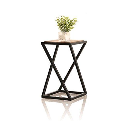 JUN Etagère à fleurs Etagère de jardin pour plante Moderne fer et bois fleur Stand-debout Pot Rack pour salon balcon rétro haut pied étagère (taille : 30 * 30 * 60cm)