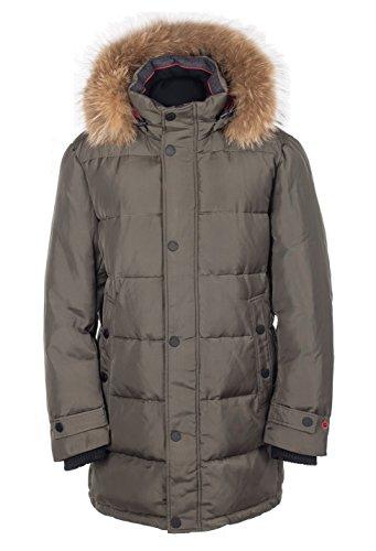 Snowimage Man SIM-V752 Herren Jacke ECHTFELL Kapuze (Länge: 92 cm) Winterparka lang Outdoor realfur man padded coat