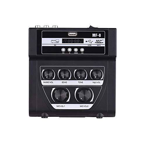 XJLJ Controlador de DJ Inteligente Karaoke Exterior de Doble Entrada de micrófono Micrófono Amplificador con grabación de Bluetooth Efecto de reverberación de la Ayuda USB/SD Card Mesas de Mezcla