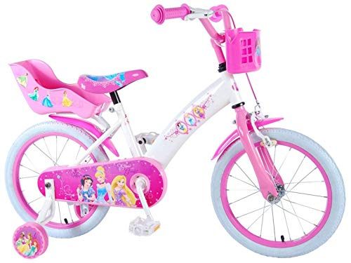 Unbekannt 16 Zoll Kinderfahrrad Prinzessin Fahrrad Mädchen Kinder Rad Pink Disney Princess