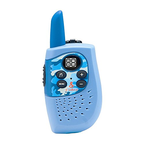 Cobra HE130B Kids Walkie Talkies Two-Way Radios Toy for Kids, Hero Series (Blue, Pair)