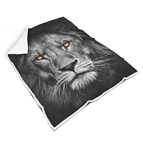 RQPPY Love is a Lion Wohndecke Super Soft für Erwachsene und Kinder Decke White 130x150cm