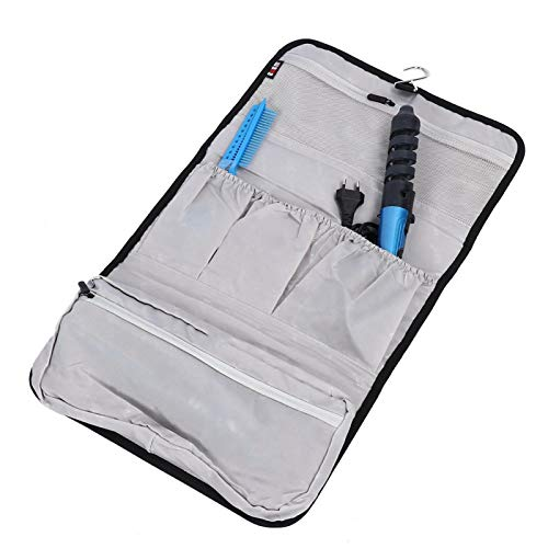 Bolsa de almacenamiento negra Bolsa de viaje portátil Kit de secador de pelo para viajes para peluqueros de salón