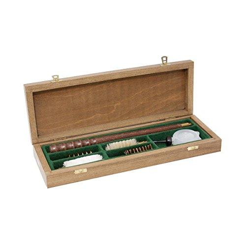 Bisley Fusil de Chasse Kit de Nettoyage dans un Bois Boîte pour 12 Jauge / Calibre