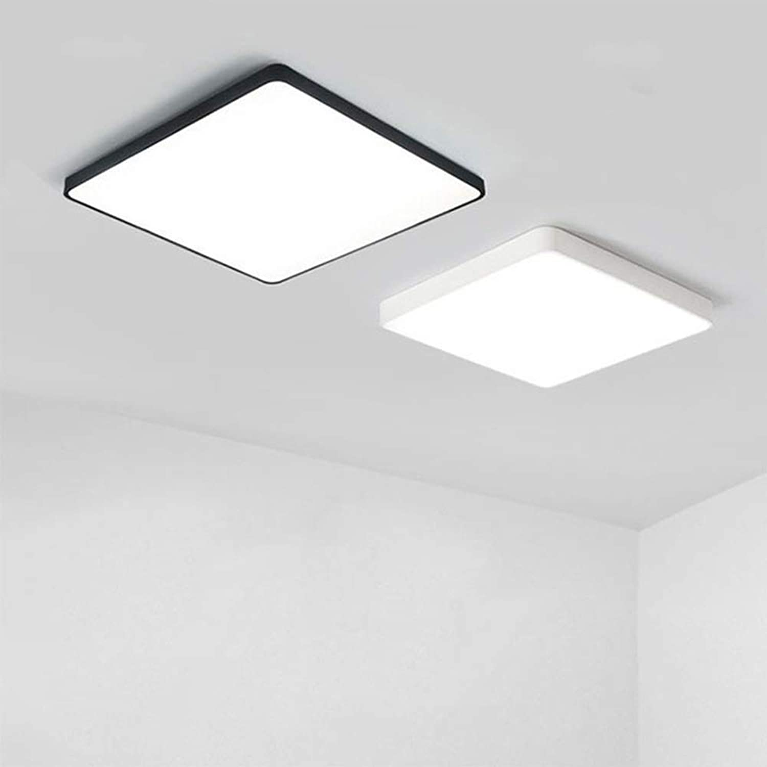 Square Flush Mounted LED Ceiling Light,Led UltraThin Ceiling lamp Creative Home Living Room Bedroom Balcony Aisle Restaurant Bathroom, White Light