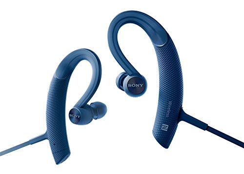 Sony MDR-XB80BS Blue Premium Waterproof Bluetooth Wireless Extra Bass Sports in-Ear 7 Hr of Playback Headphones/Microphone (International Version)