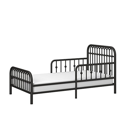 Little Seeds Piper Metal Toddler Bed, Black