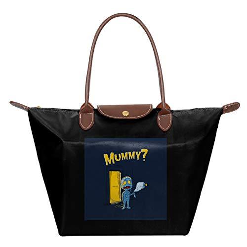 mama bellen voor zijn moeder waterdicht leer gevouwen Messenger nylon tas reizen tote hoppen vouwen school handtassen
