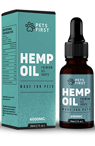 Hemp Seed Oil Drops for Dogs & Cats 3000mg Omega 3,6 & 9 Supplement...
