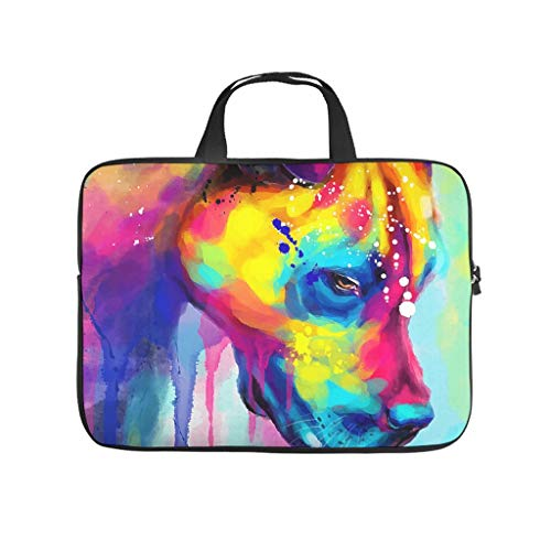Colourful Dog Graffiti Animal Printed Laptop Bag Protective Case Lightweight Neoprene Laptop Bag Cover Trendy Laptop Sleeve Case for Staff Friends