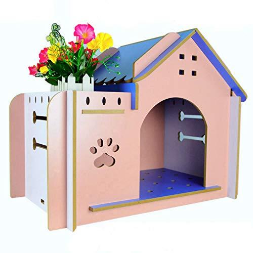 CY Zwinger Herbst und Winter Chihuahua Bomei Teddy Hundehaus Haus Villa Holz Haustier Hund Kleinen Hund,Ein