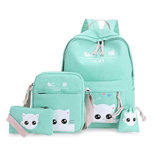 FSJD Cute Children's Schoolbag Primary School Girl Schoolbag 1-6 Grade Small Fresh Canvas Backpack Student Schoolbag