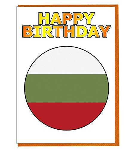 Bulgarije Vlag - Verjaardagskaart - Vriend - Familie - Collega - Mate - Boss - Loved One