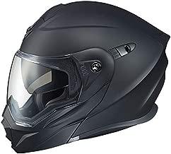 ScorpionEXO Unisex-Adult Modular/Flip Up Adventure Touring Motorcycle Helmet (Matte Black, Medium) (EXO-AT950 Solid)
