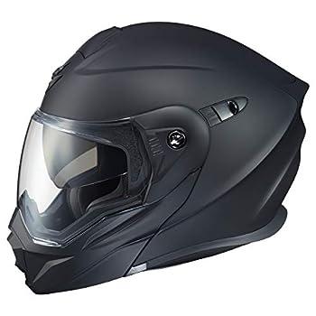 ScorpionEXO Unisex-Adult Modular/Flip Up Adventure Touring Motorcycle Helmet  Matte Black XXX-Large   EXO-AT950 Solid