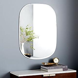 Quality Glass Premium Quality Frameless Decorative Mirror   Mirror Glass for Wall   Mirror for Bathrooms   Mirror in Home   Mirror Decor   Mirror Size : 18 inch X 24