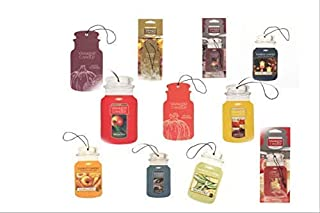Yankee Candle Car Jars 5 Assorted Variety Scents Paperboard Bundle (Fall and Autumn)