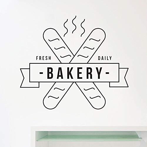 JXNY Neue Regale Bäckerei Logo Aufkleber Bäcker Vinyl Schaufenster Wandtattoo Aufkleber wasserdichte Wand Bild Paket Home Decoration35x30cm