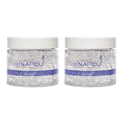 Napoli Cigar Humidor Solution Jars - Crystal Gel Humidifier Maintains Humidity To 70% Rh & Protects Up To 150 Cigars - Set Also Includes A Digital Hygrometer For Cigar Humidor - 4 Ounces, 2 Pack