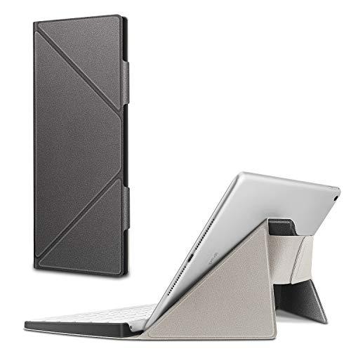 Fintie Trage-Hülle kompatibel mit Apple Magic Keyboard (MLA22LL) - Schmale, leichte Schutz-Tasche mit Standfunktion kompatibel mit iPhone/iPad/iPad Pro/iPad Air/iPad Mini/iMac, Silber grau