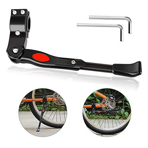 Hospaop Fahrradständer Mountainbike, Anti-Rutsch Fahrrad Ständer für 24-29 Zoll, Höhenverstellbarer Fahrrad Seitenständer Universal Hinterbauständer Aluminiumlegierung