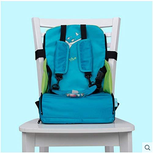 HXC Baby Reisehochstuhl Portable Hochstuhlabdeckung tragbarer mobiler Kinderstuhl Sicherheitsgürtel Baby Boostersitze Zusatz Sitz Hochstuhl Kissen Kinder Esszimmerstuhl Sitzkissen Blau