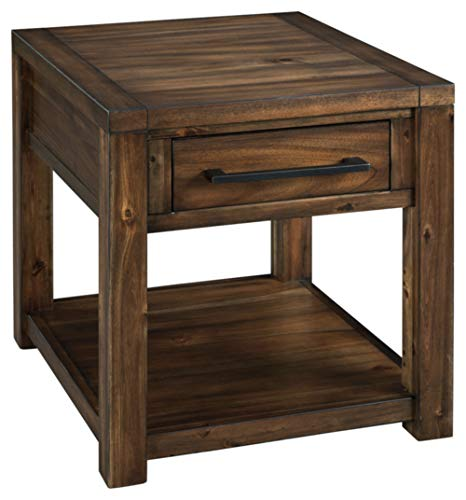 Signature Design by Ashley Marleza Rectangular End Table Brown
