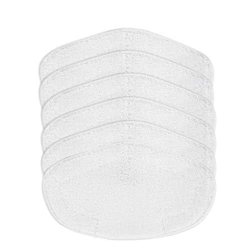 IUCVOXCVB Accesorios de aspiradora 6pcs Microfibra Lavable Fregadera, Piezas de reemplazo Fit para Polti Kit Vaporetto Steam Mop (Color : White)