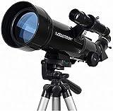 Telescopio para niños y adultos principiantes Telescopio de viaje portátil para niños y adultos, telescopio de refractor de 70 mm con trípode y buscador de alcance, mochila y filtro de luna, Regalo